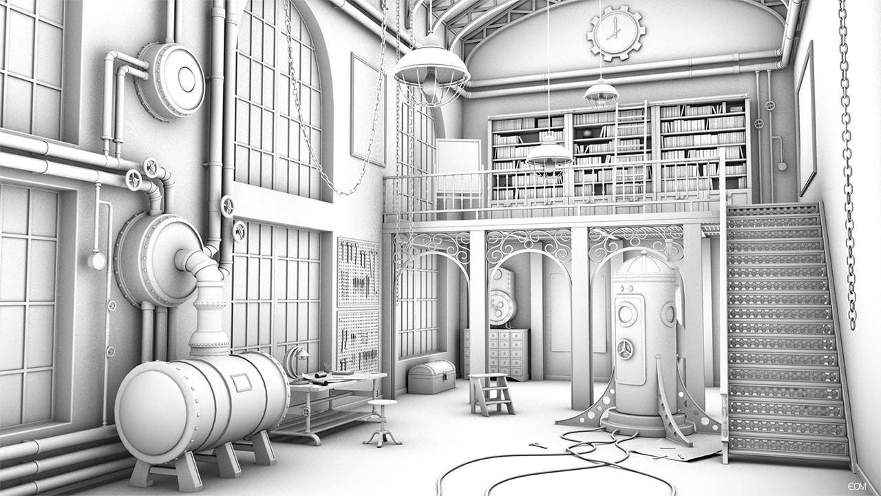 Ambient Occlusion - 3D steampunk studio